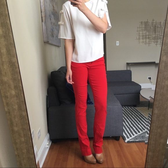 The Limited Pants - Red dress pants